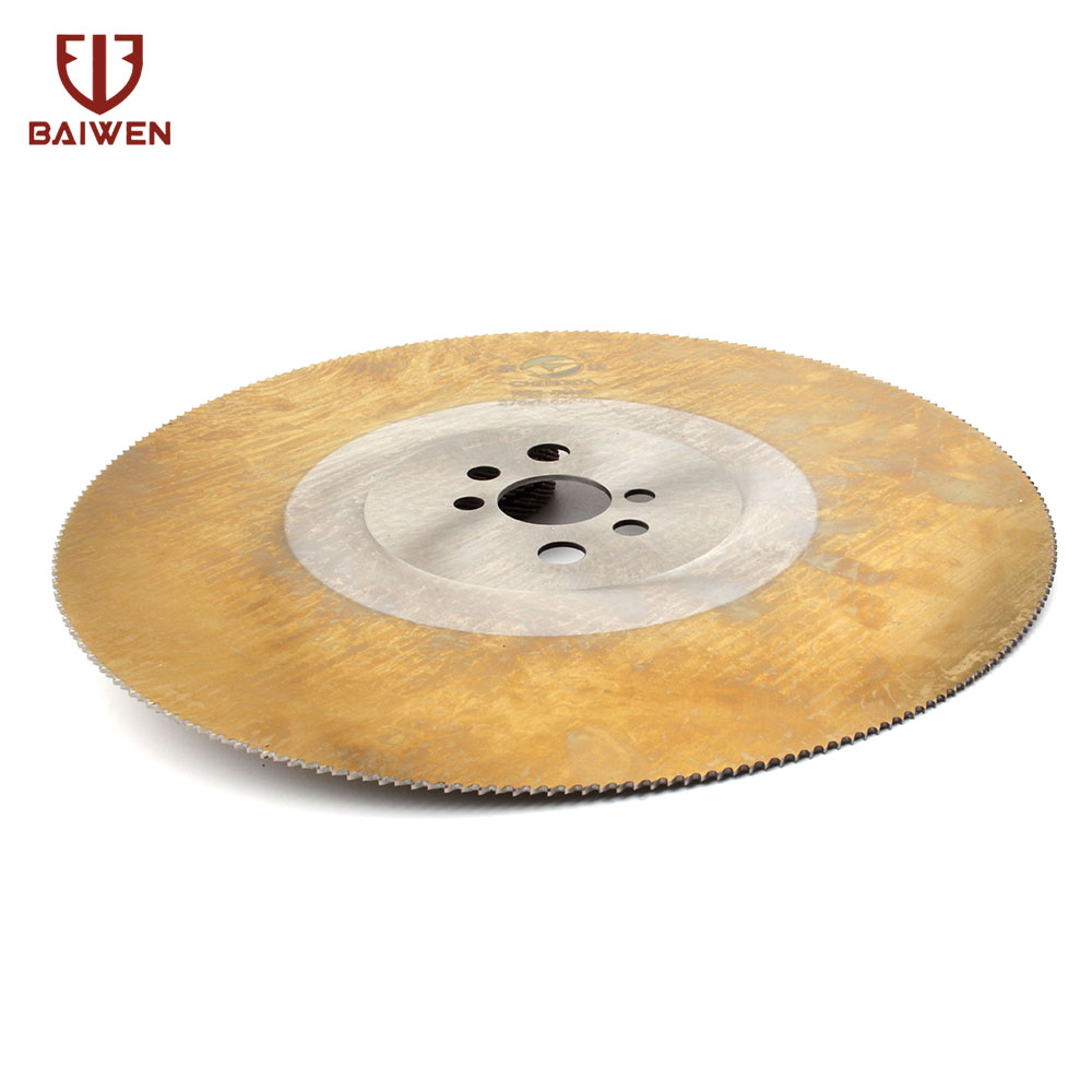 HSS Circular Saw Blade   Cutting Disc For Metal Copper Iron Stainless Steel Pipe Bar 275* 1.2*32mm   M2 Yellow 1Pc