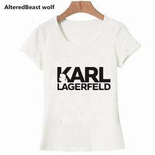 e881a6d904e Karl Lagerfeld, camiseta de las mujeres de verano Unisex 2019 Vogue manga  corta T camisas