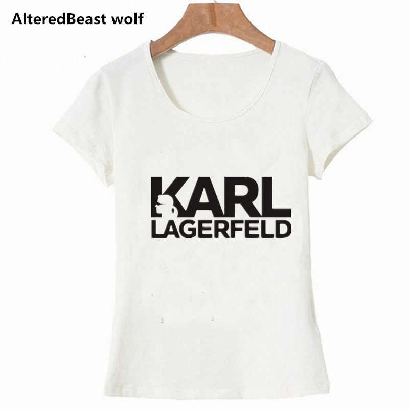 37ef2f1a20 Karl Lagerfeld T shirt women Unisex summer 2019 Vogue Short Sleeve Funny T  Shirts Harajuku Tumblr