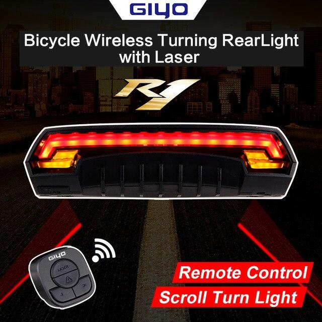 GIYO Laser vélo feu arrière LED rechargeable par usb vélo feu arrière lampe 85 Lumen montage lanterne rouge lampe de poche pour vélo
