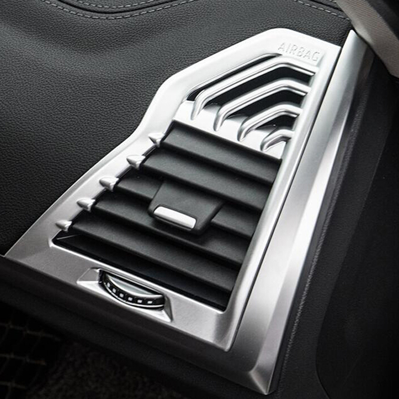 For <font><b>BMW</b></font> <font><b>X3</b></font> <font><b>G01</b></font> X4 G02 2018 2019 ABS Matte and <font><b>Carbon</b></font> fibre Car left and right air outlet Cover <font><b>Trim</b></font> car styling accessories 2pcs image