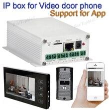 Bezprzewodowe wifi ip boxs obsługuje wifi, połączenie kablowe SIP wideodomofon zdalne odblokowywanie przewodowych cyfrowych domofonów
