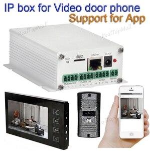 Image 1 - Беспроводной wifi ip бокс поддержка wifi, подключение к кабелю SIP видео телефон двери удаленное разблокирование проводной цифровой домофон системы