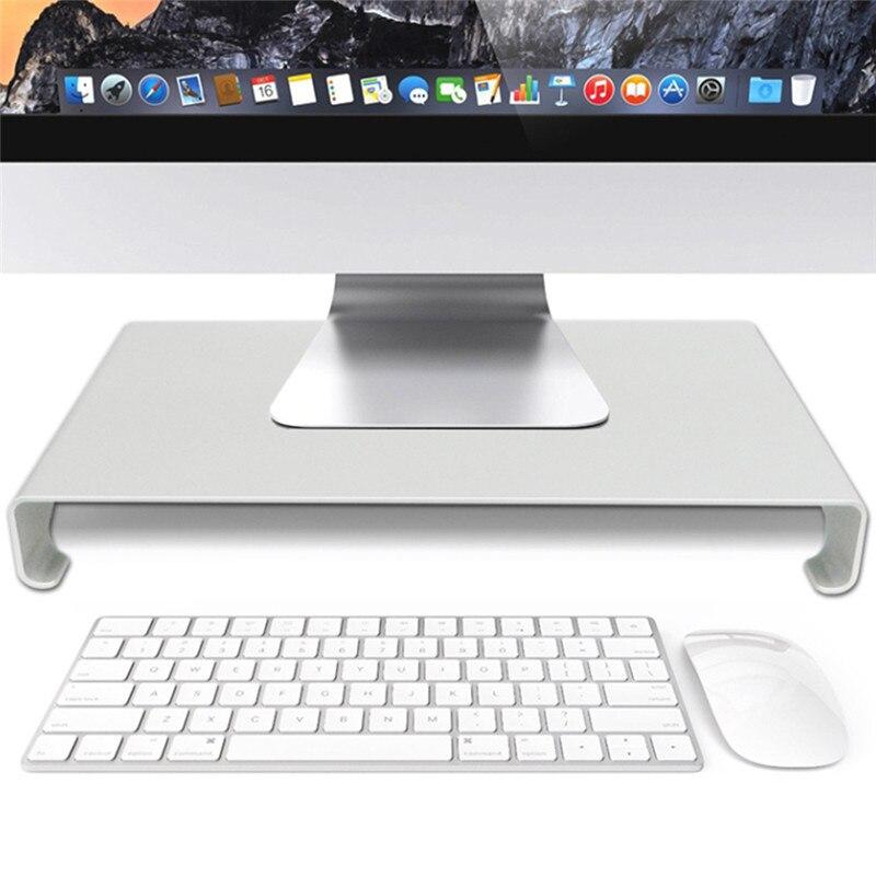 Aluminiumlegierung Computer Halterung Stand FÜhrte Lcd Computer Monitor Riser Desktop Organizer Display Halterung Rack