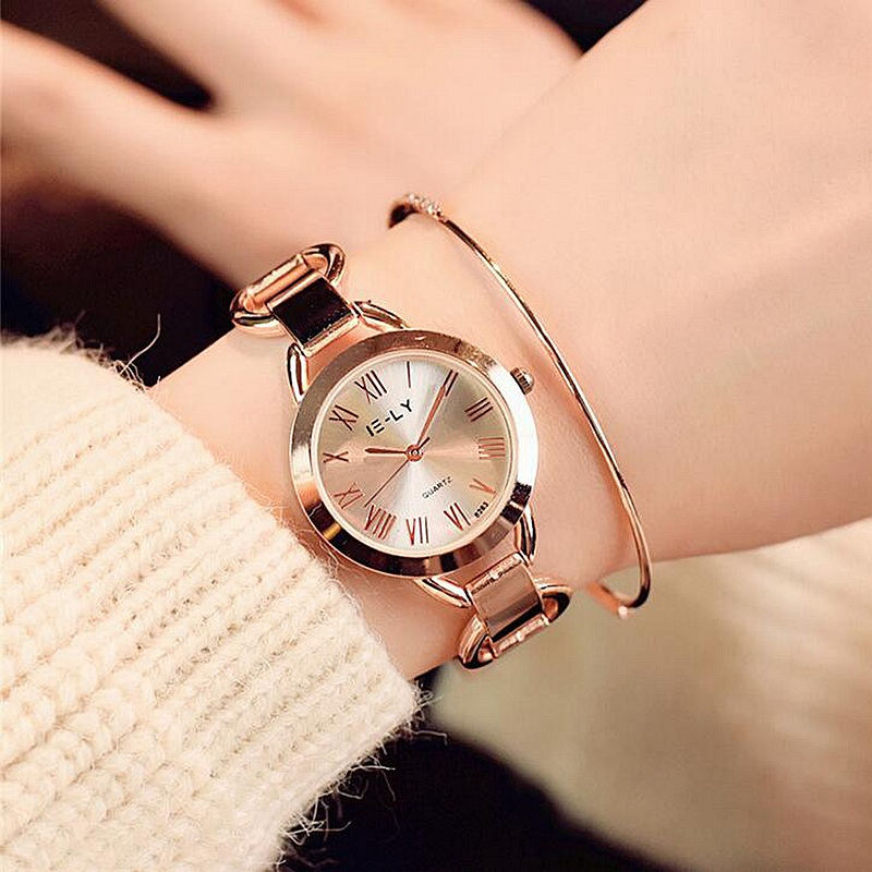Luxury Unique Ulta-Thin Women Dress Quartz Wristwatches Retro Roman Dial Plated Gold Silver Ladies Leisure Watch Relojes mujer top luxury wristwatches gold silver plated with austrian crystal ladies digital quartz watch waterproof drop shipping