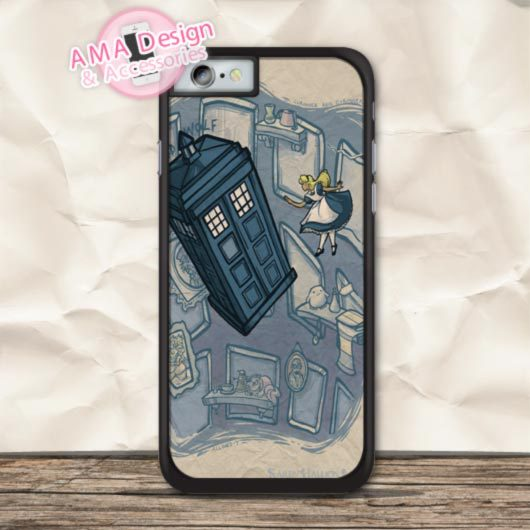 Alice Adventure In Doctor Who Cover Case For iPhone X 8 7 6 6s Plus 5 5s SE 5c 4 4s For iPod Touch