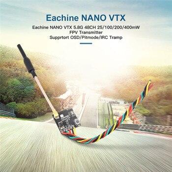 Eachine FPV transmisor VTX 5,8 GHz 48CH 25/100/200/400mW apoyo OSD/Pitmode/IRC vagabundo accesorios de control remoto