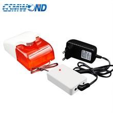 Sirena estroboscópico de Flash inalámbrica para sistema de alarma GSM 433MHz, sistema de alarma inalámbrico, sirena de policía, compatible con 100 detectores inalámbricos,