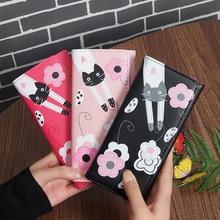 Купить с кэшбэком Newest Fashion Women Wallets Long Style Multi-functional wallet Purse Fresh PU leather Female Clutch Bag Card Holder Hot Sale