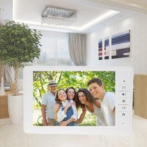 "Image 2 - 7 ""TFT LCD צבע מסך וידאו וידאו דלת בל אינטרקום מערכת מקורה צג יחידה עם 25 צלצול עבור בית דירה בטוח V70F"