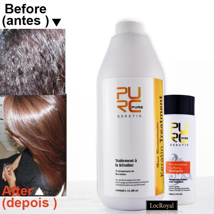 Keratin hair straightening treatment 5 formaldehyde keratin and hair care purifying shampoo - Hair straightening salon treatments ...
