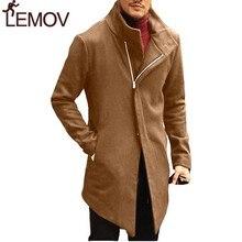 Long Windbreaker Men Jacket Winter Zipper Trench Coat Outwear Chaqueta Hombre Streetwear Veste Homme ZOGAA