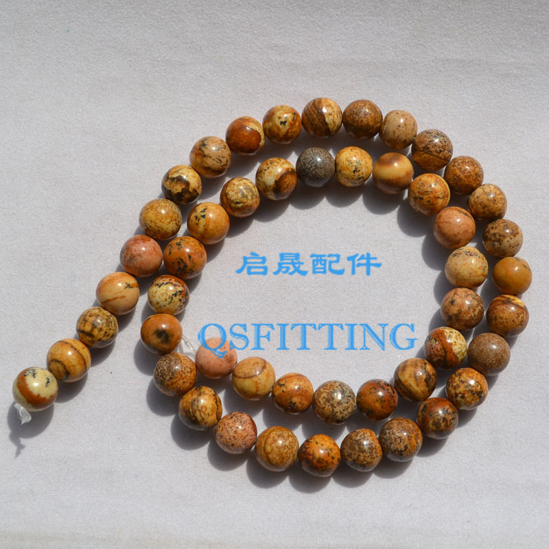 supply DIY fashion jewelry Accessory 8MM Artificial Stone Round Shape Turkey Turquiose Brown Color Bracelet Department