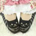 New Arrival Women's Sexy Tattoo Design Striped Cat Tights Fashion Female Stocking