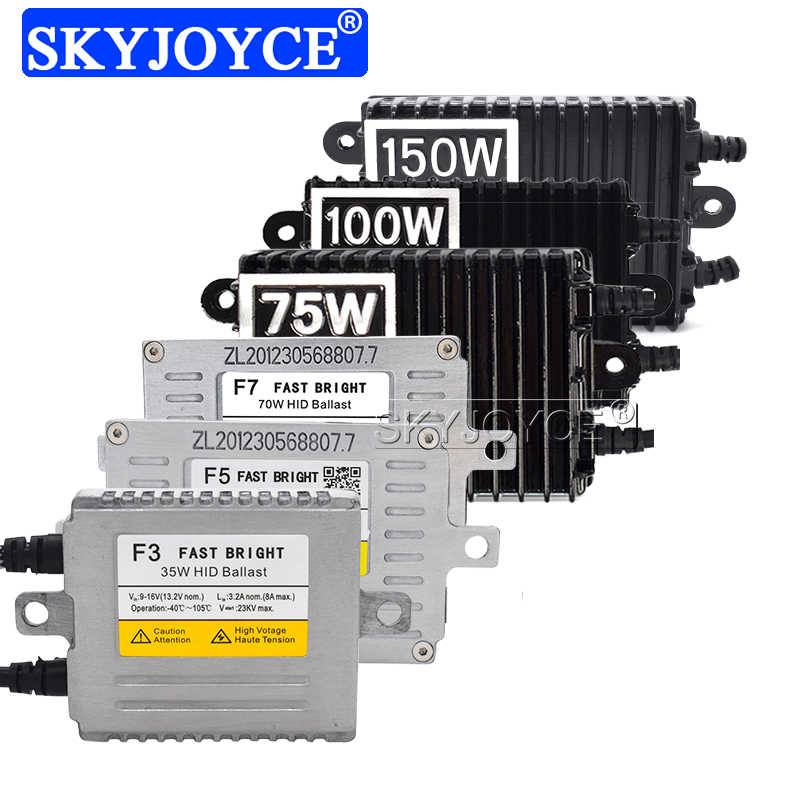 SKYJOYCE AC 12V Car Headlight HID Ballast 35W 55W 70W 75W 100W 150W HID Ballast For Car Light Bulb Xenon H7 H1 H11 D2H Xenon Kit