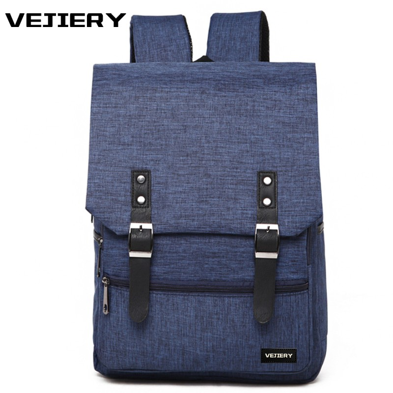 VEJIERY 2018 Canvas Men Backpack Large Capacity 14 Inch Laptop Backpack Women School Bags for Teenager Boys Girl Travel Backpack canvas backpack women for teenage boys school backpack male