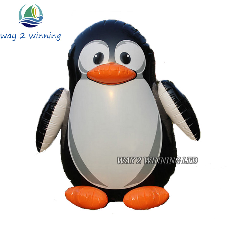 Buy 130cm Giant Inflatable Penguin Toys Cute Cartoon QQ Doll Toys Children Halloween/Birthday Decorations Party Supplies Favor