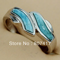 Hiphop Larimar jewelry RING classic Silver Plated R3525 sz#6 7 8 9 Sporty New pattern Time limited discount Rave reviews Vintage