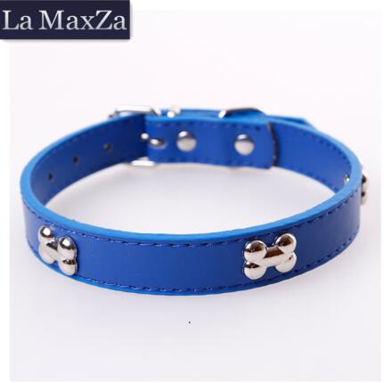 2019 Hot Pets Dog Collars PU Leather Collars Fashion Cute Cat Use Chihuahua Pets Supplier Adjustable Dog Accessories Candy Color