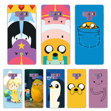 Adventure time Transparent Case Cover for Samsung Galaxy Note 9 8 5 4 A6 A7 A8 A9 J3 J4 J6 J7 J8 2018 S10 lite plus cover(China)