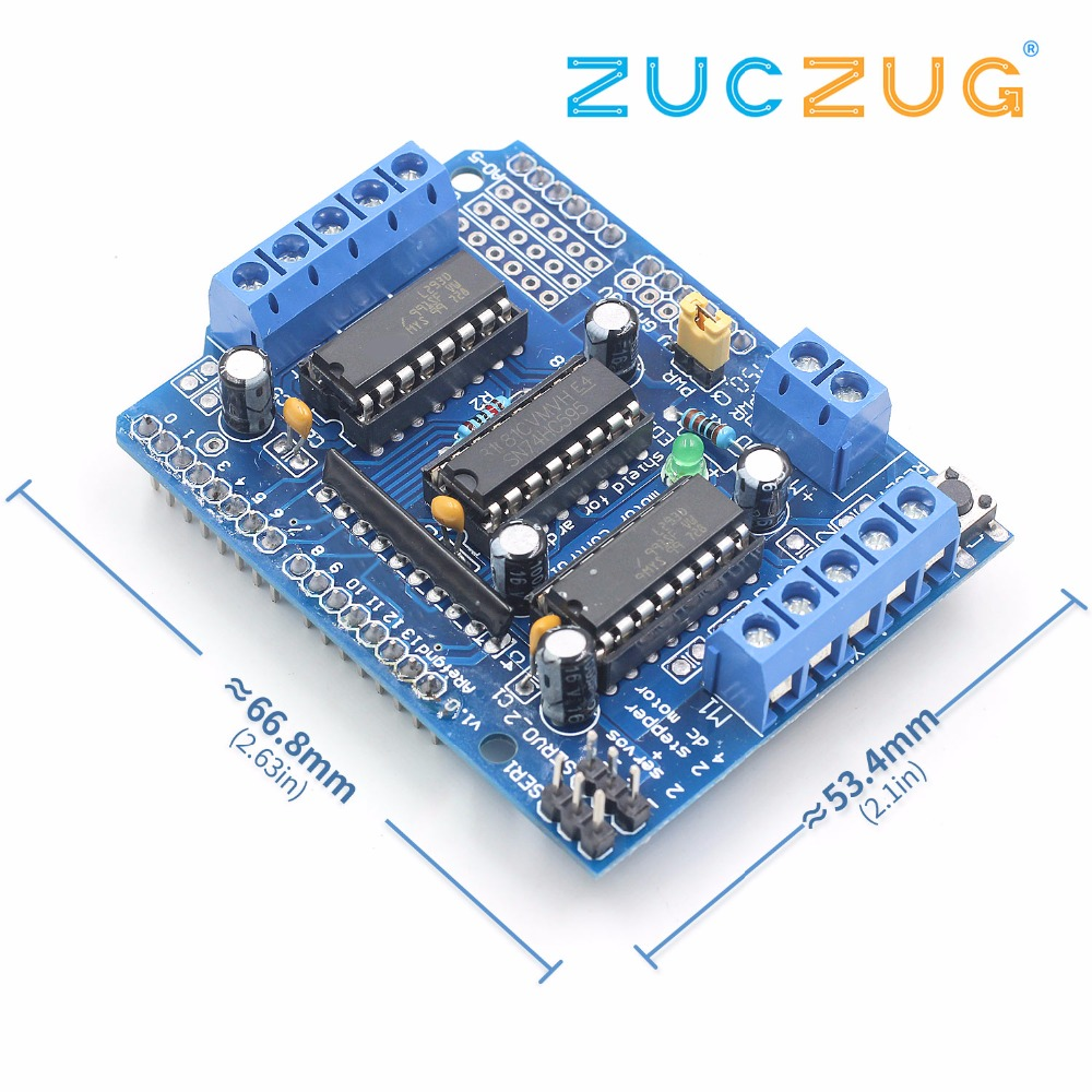 US $1 03 17% OFF|L293D motor control shield motor drive expansion board FOR  Arduino motor shield-in Integrated Circuits from Electronic Components &