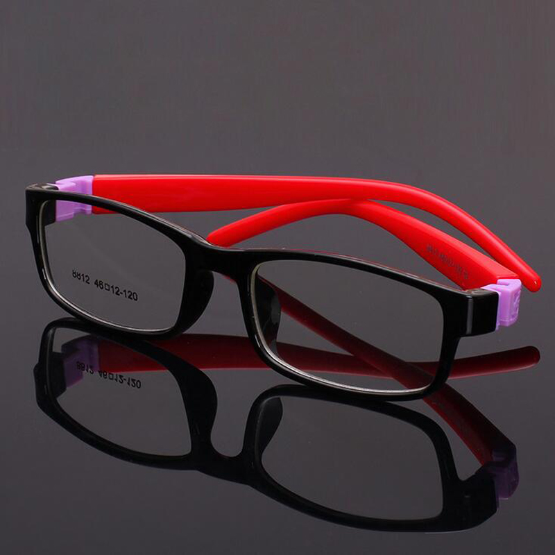 Kids Optical Eyeglasses super light square No Screw Bendable, Barn Glasses Frame Teens Glasögon, Silikon Flexibel Ram