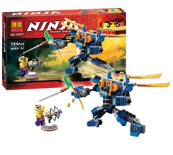 Bela Ninjagoes ElectroMech Building Block Set Jay Chope Minifigures Toy legoe 70754 Compatible