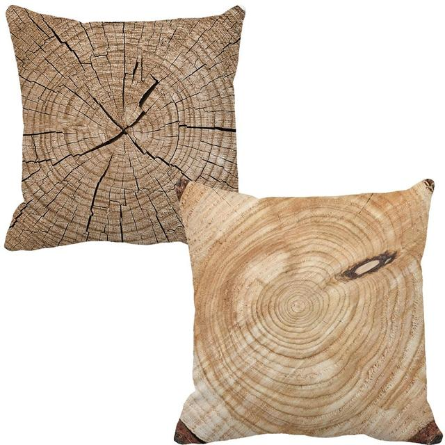 Personalized Custom Tree Root Print Brown Accent Sofa Chair Cushions Home  Decor Design Throw Pillow Cojin