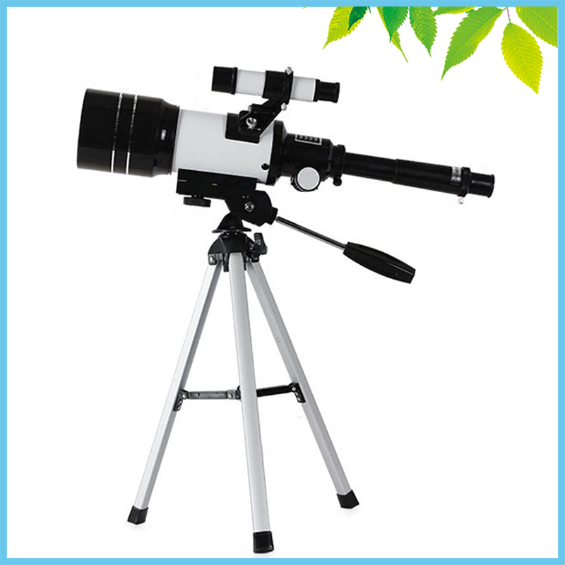 Professional 150X Refractive Astronomical Telescope with Finderscope Monocular Spotting Scope 300/70mm Telescopio Children Gift