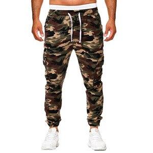 Image 1 - Pantaloni sportivi da uomo pantaloni 2019 nuovi uomini mimetici pantaloni Casual Hip hop pantaloni mimetici pantaloni elastici Sport Leggings larghi larghi