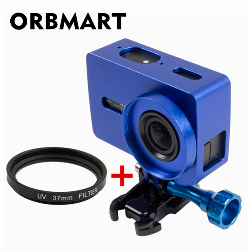 Aggressive Orbmart Protective Aluminum Frame Case + Lens Cover + 37mm Uv Filter For Xiaomi Yi 2 4k Xiaoyi 2 Sport Camera Accessory