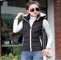 hot sale New Fashion Women Winter Ma3 jia3 Big yards Hooded Warm Feather Cotton Vest Elegant Slim Ladies Leisure Coat G1932