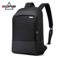 BOPAI Casual Business Men's Backpack for Travelling 15.6 Inch Waterproof USB Charging Laptop Backpack Cool Students School Bag