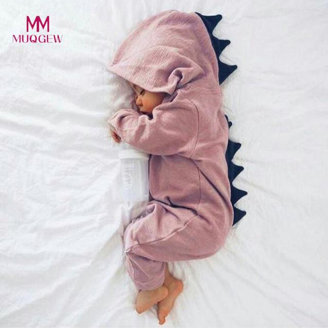 77d78f324 New Kids Clothes Newborn Infant Baby Boy Girl Dinosaur Hooded Romper ...