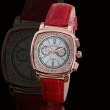 Marca de Moda Relojes de Cuarzo Resistente Al Agua Reloj de Las Mujeres de Cuero Genuino Vacío Lating Textura Super Factory Outlet Relojes de Pulsera