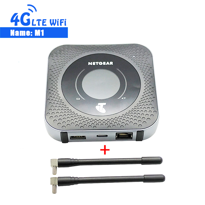 Desbloqueado Netgear Bacurau M1 4GX Gigabit Router 1000 mbps LTE Móvel Wi-fi Hotspot + 2 PCS Antenas