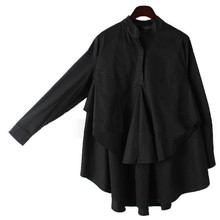 Women Blouses 2016 New Autumn Summer Women Tops Shirt Black White Long-sleeve Shirt Female  Shirt Plus Size L-XXXL