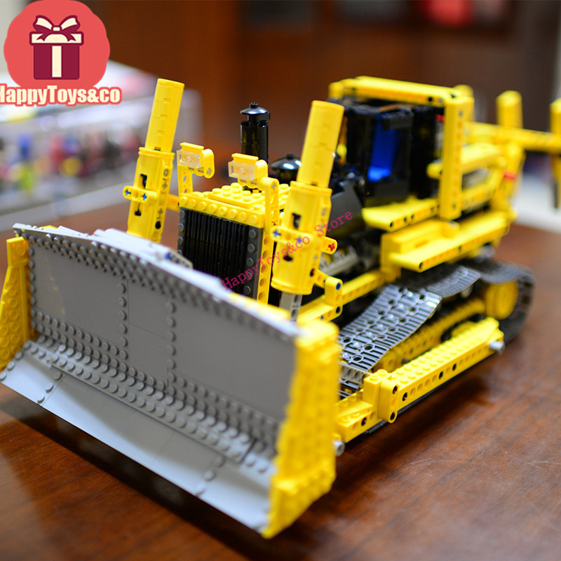 LEPIN New Technology Series 8275 1384Pcs The bulldozer toys For Children Gift 20008 Building Blocks Set Compatible Education wange mechanical application of the crown gear model building blocks for children the pulley scientific learning education toys