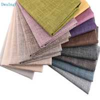 DwaIngY Pure color Series Cotton Linen Fabric For DIY Sewing Quilting Sofa Curtain,Cushion Furniture Cover Material,Half Meter