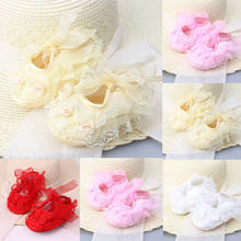 Hot Sale Beautiful & Colourful Baby Girl Kid Barefoot Sandals Shoes Headband Lace Flower Foot Band(China)