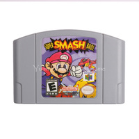 Nintendo N64 Video Game Cartridge Console Card Super Smash Bros English Language Version