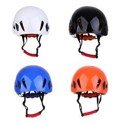 1 pçs segurança escalada espeleologia rappelling resgate capacete andaime protetor de cabeça para montanhismo escalada caiaque resgate
