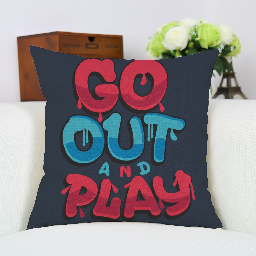 compare prices on cool decorative pillows online shoppingbuy low  - fashion creative cool cartoon go out play print cushion cover cotton linen decorativepillow case home