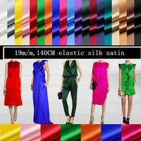 W1601s 19m M 140cm Elastic Silk Satin Fabric For Dress Silk Garment