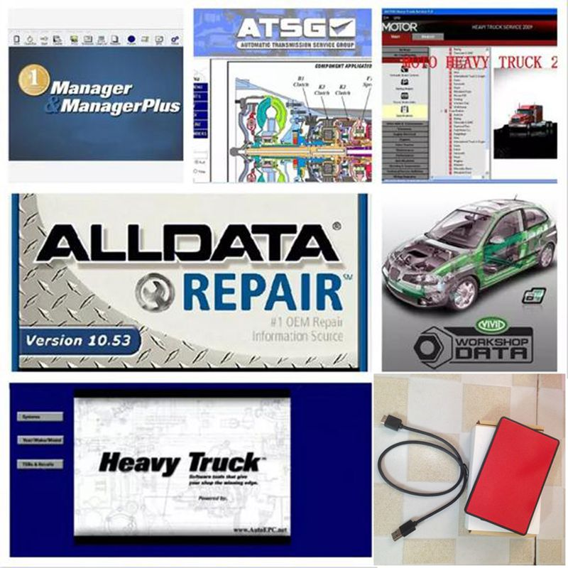Alldata Auto Repair Software all data 10.53V 25 softwares in 1tb hdd alldata software with mitchell ondemand software 2015 hdd 2017 auto repair software alldata and mitchell 10 53v all data mitchell 2015 elsawin5 2 atsg vivdworkshop heavy truck 50in1