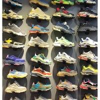 Лучшее Качество уличная Ins популярная женская мужская обувь для папы хип хоп мужские тройные кроссовки размер 35 45