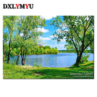 Lake And Trees Picture Mosaic 3D DIY Diamond Painting Scenery Canvas Oil Embroidery Cross Stitch With