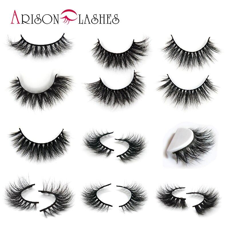 Arison Mink Eyelashes 3D Mink Lashes Thick HandMade Full Strip Lashes Cruelty Free Korean Mink Lashes 10 Style False Eyelashes цена