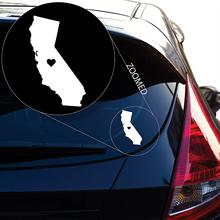 Yoonek Graphics Love California Decal Sticker for Car Window, Laptop and More. # 567 (6 x 3.8, White)