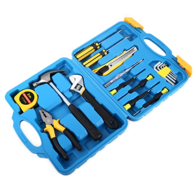 17 in 1 Home Repair Mixed Tools Set with Screwdriver Hammer Pliers Measuring Tape 1 17